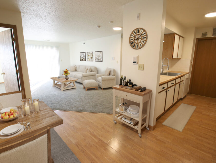Maple Heights Virtual Staging Living